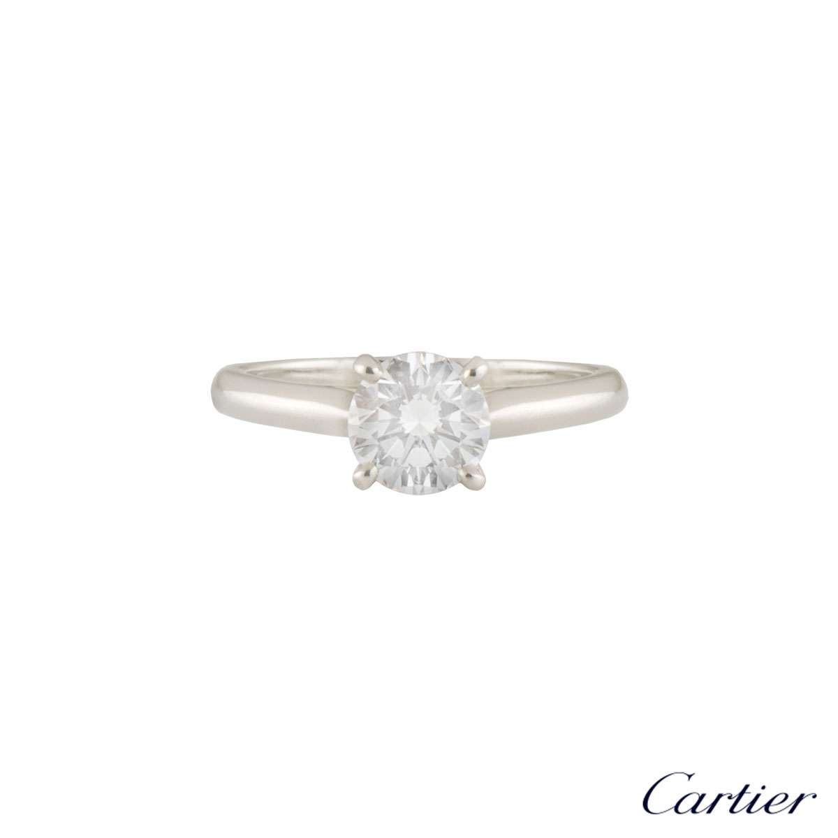 Cartier Platinum 1895 Diamond Ring 0.85ct E/VS1